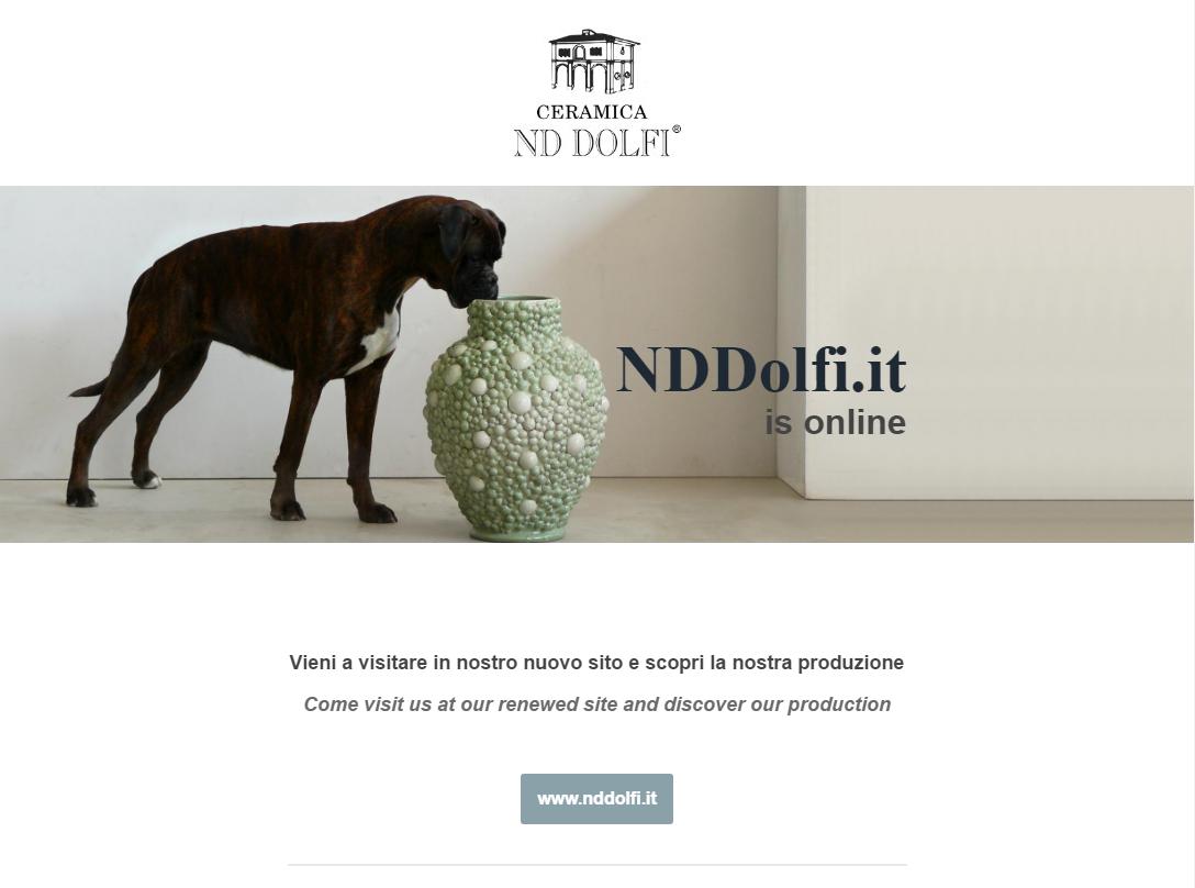nuovo sito web Ceramica ND Dolfi